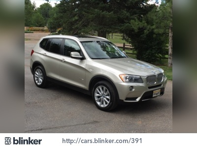 2014 BMW X3 2014 BMW X3I have chosen to list this vehicle on Blinker Blinker offers many benefit